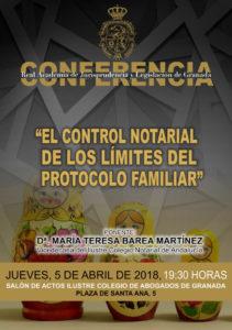 """Conferencia """"El control notarial de los límites del Protocolo Familiar"""""""