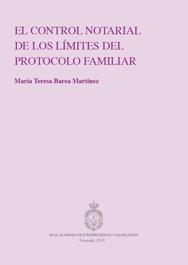 El control notarial de los límites del protocolo familiar