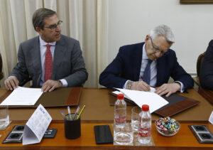 Firma nuevo convenio Real Academia de Jurisprudencia y Legislación de Granada y Colegio de Abogados de Granada