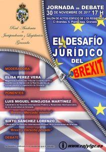 Cartel de la Jornada de debate: El desafío jurídico del Brexit