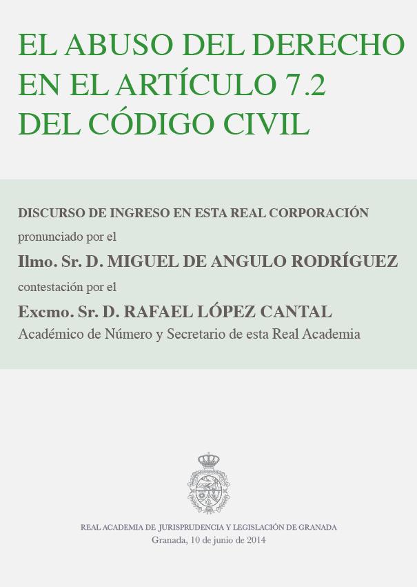 Discurso de Ingreso de Miguel de Angulo Rodríguez