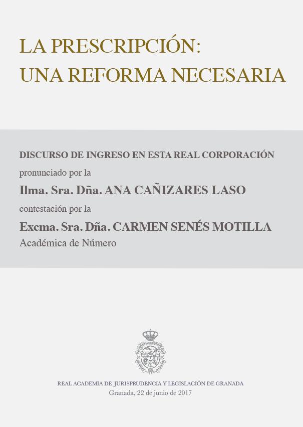 Discurso de Ingreso de Ana Cañizares Laso