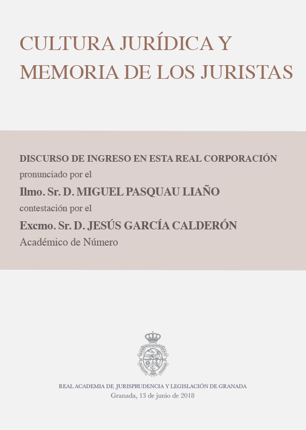 Discurso de Ingreso de Miguel Pasquau