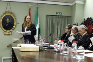 Recepción de la Ilma. Sra. Dª. Belén López Espada como Académica Correspondiente. Agradecimiento.